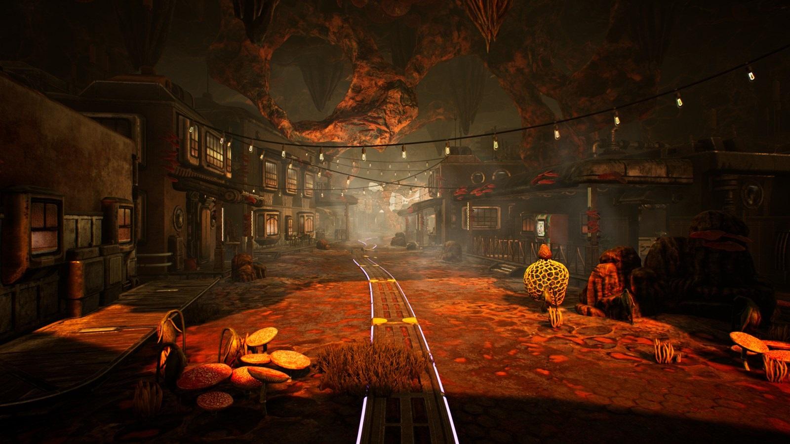 Nejočekávanější hry v roce 2019; The Outer Worlds, screenshot: město