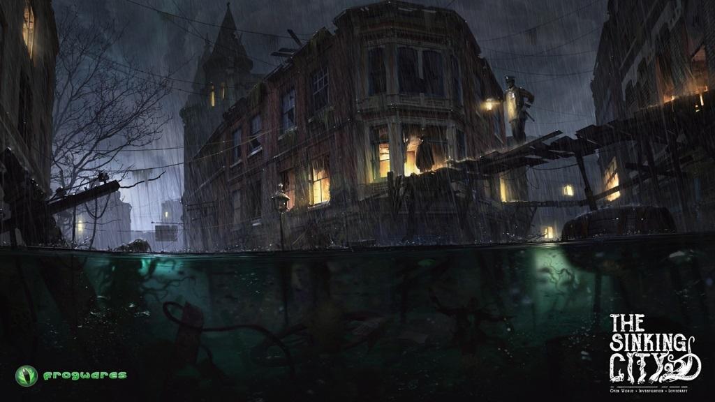 The Sinking City; wallpaper: děsivé město