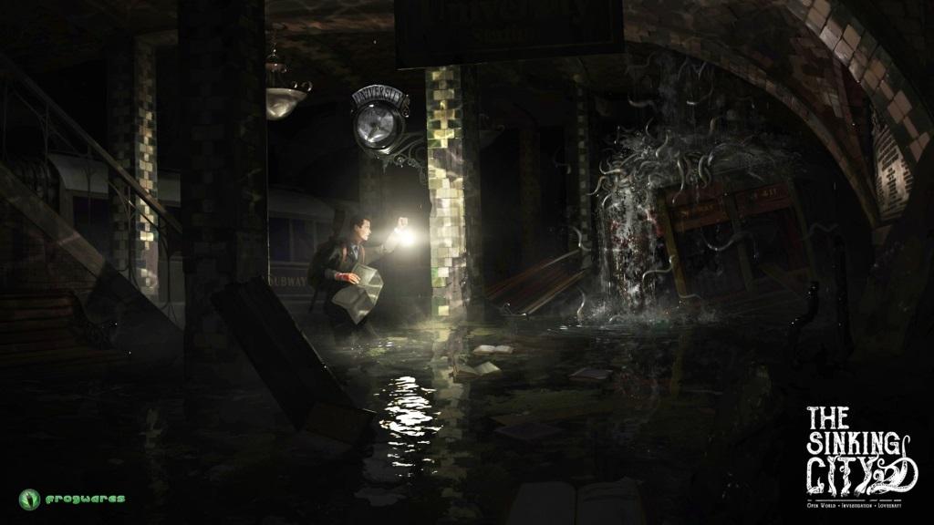 The Sinking City; wallpaper: detektivní práce