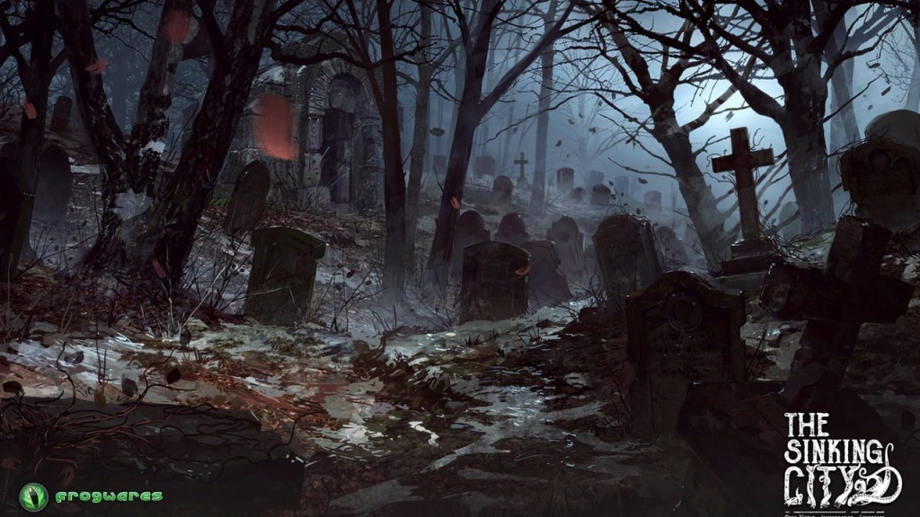 The Sinking City; wallpaper: hřbitov