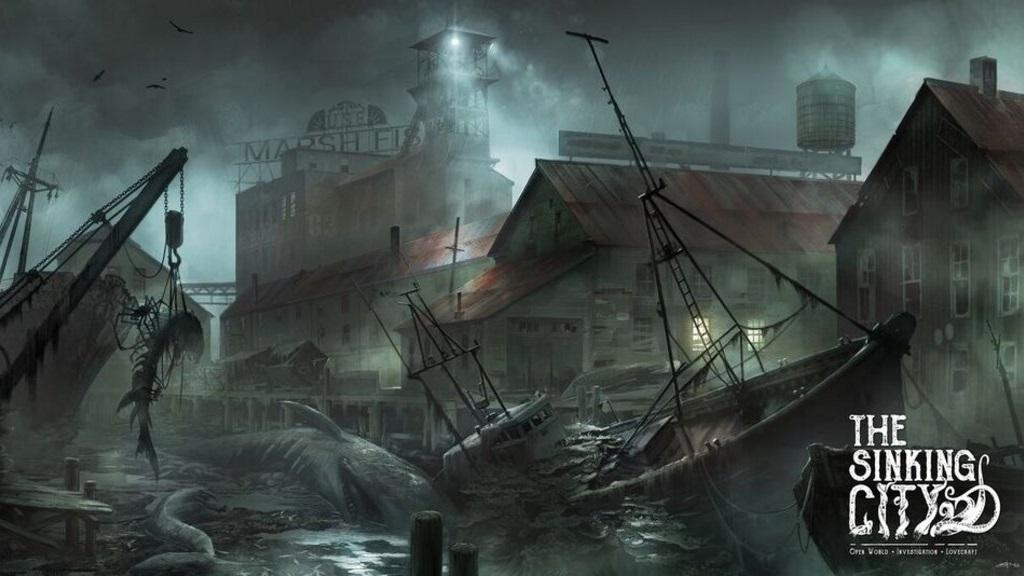 The Sinking City; screenshot: přístav