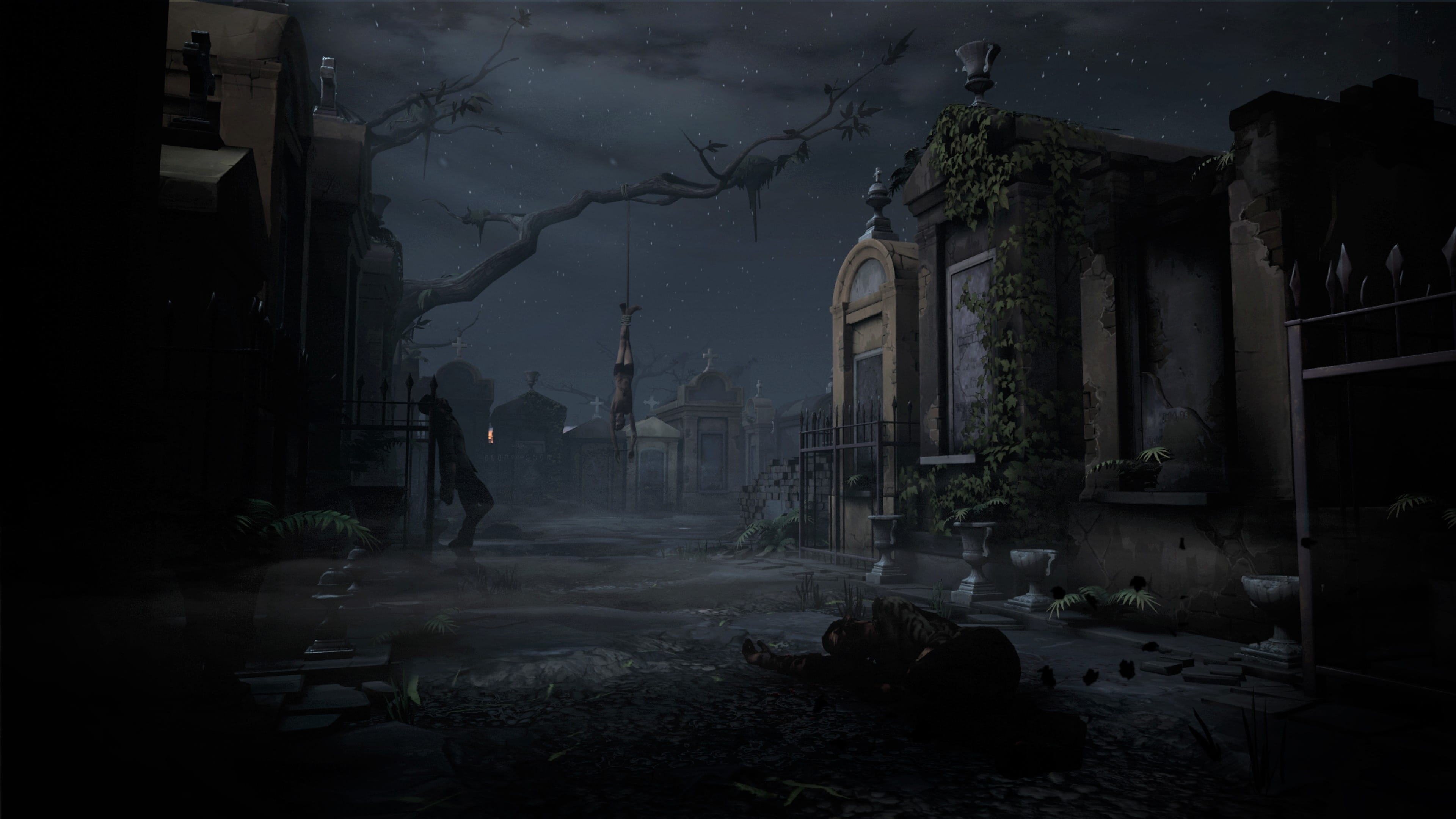 The Walking Dead: Saints & Sinners; gameplay: hřbitov