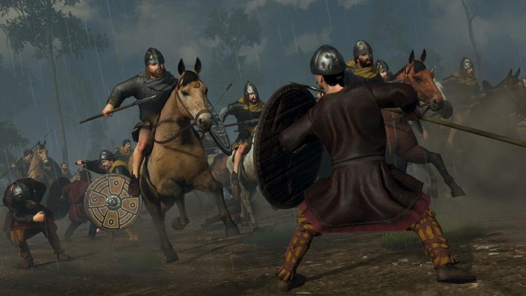 Nejlepší hry; Total War Saga: Thrones of Britannia; screenshot: jízda
