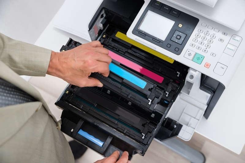 Tiskárna; výměna toneru