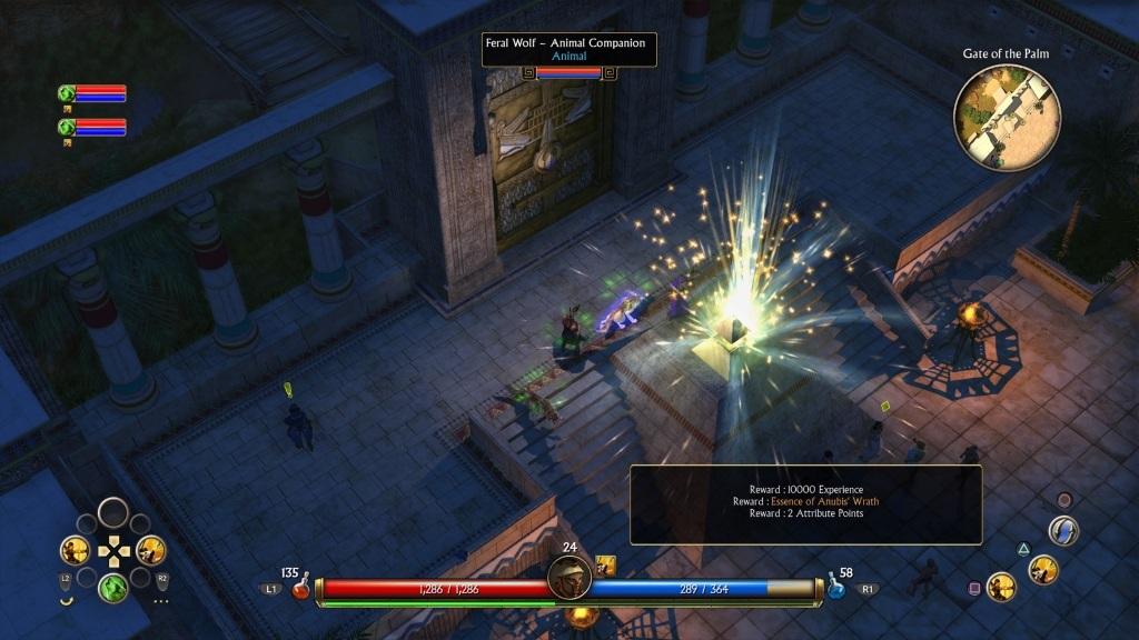 Titan Quest; Gameplay: grafický detail, město