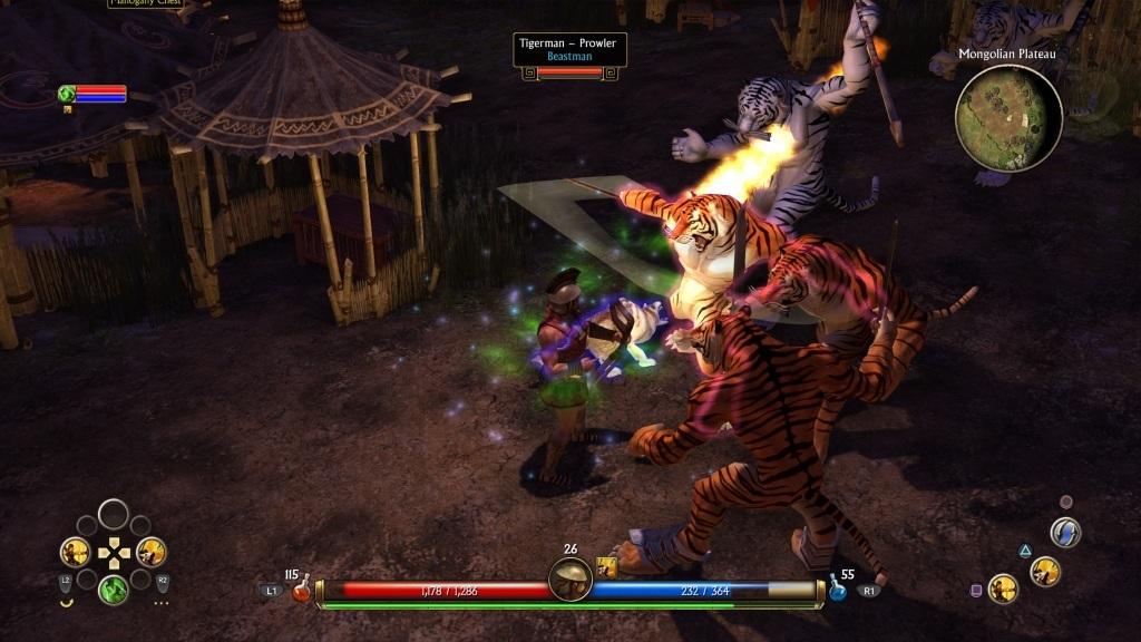 Titan Quest; Gameplay: hedvábná steska, souboj