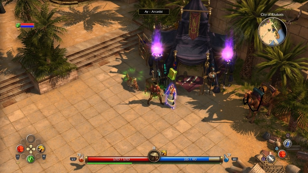 Titan Quest; Gameplay: město, obchodník