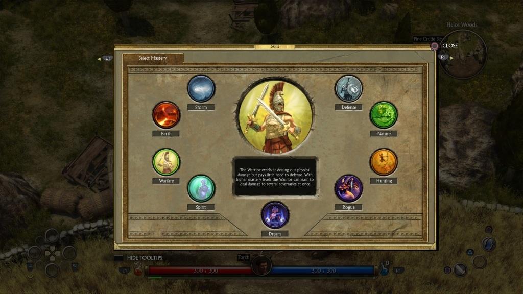 Titan Quest; Gameplay: volba povolání