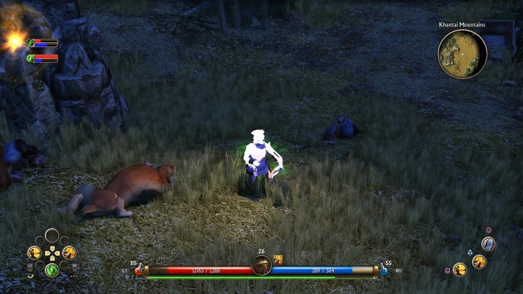 Titan Quest; Gameplay: vypadlá textura