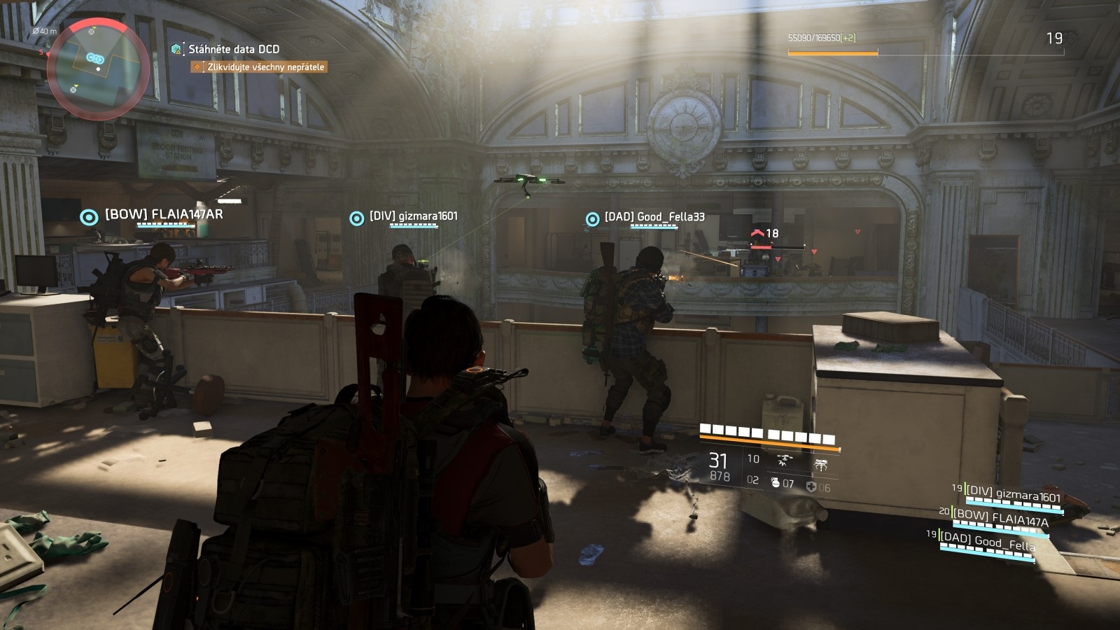 Tom Clancy´s The Division 2; gameplay: boj