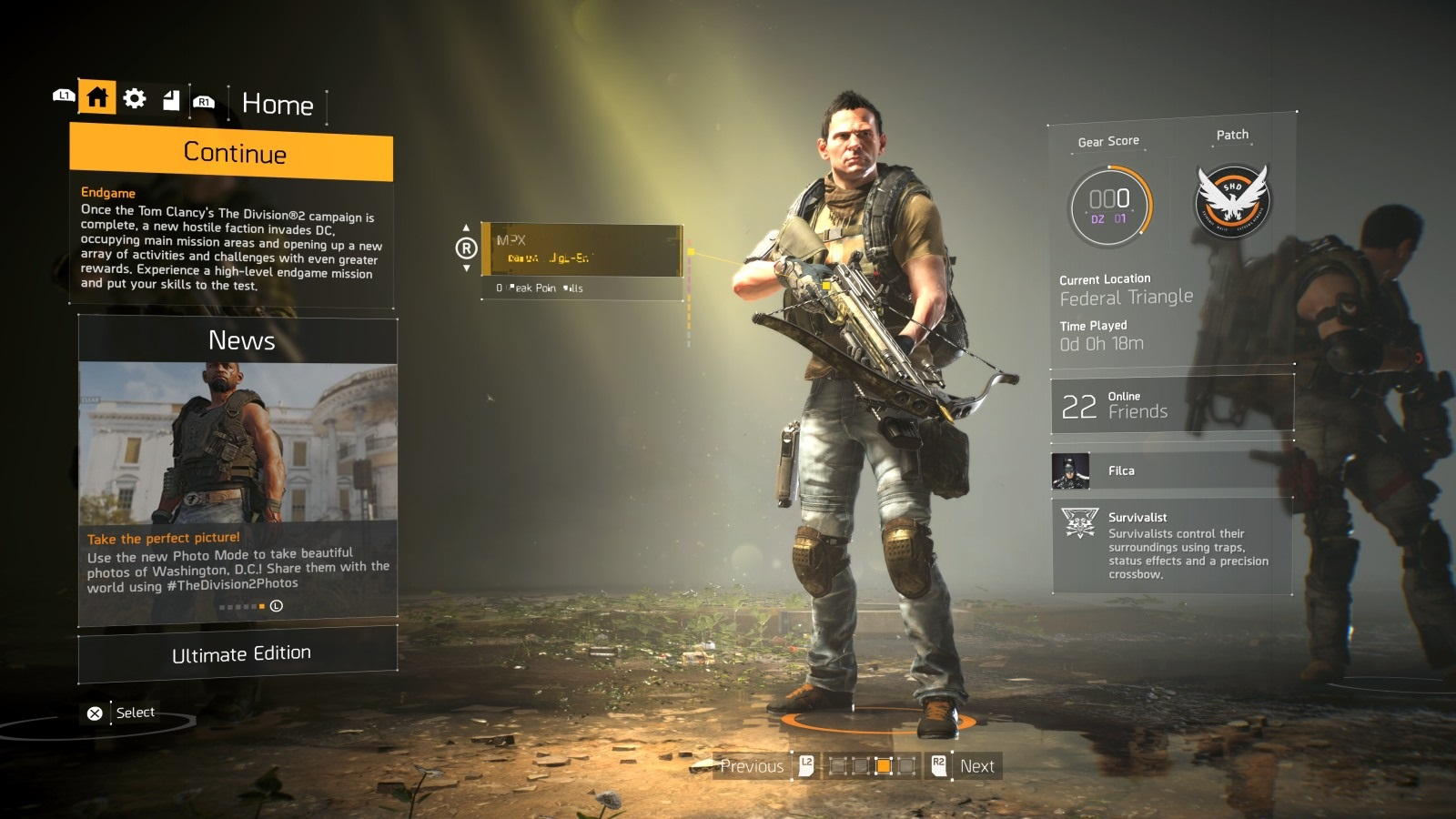 Tom Clancy's The Division 2; gameplay: end game kuše