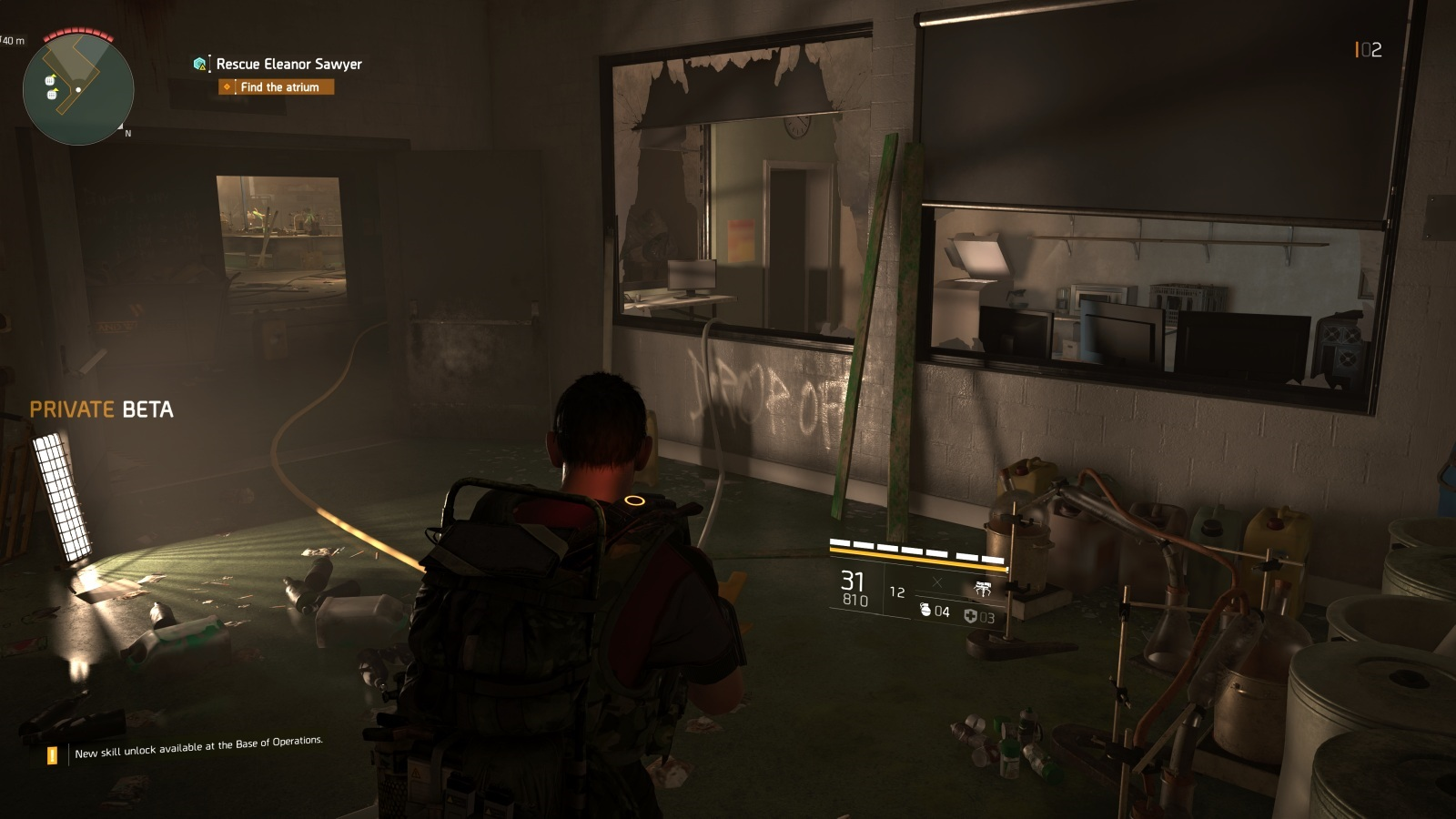 Tom Clancy's The Division 2; gameplay: interiér