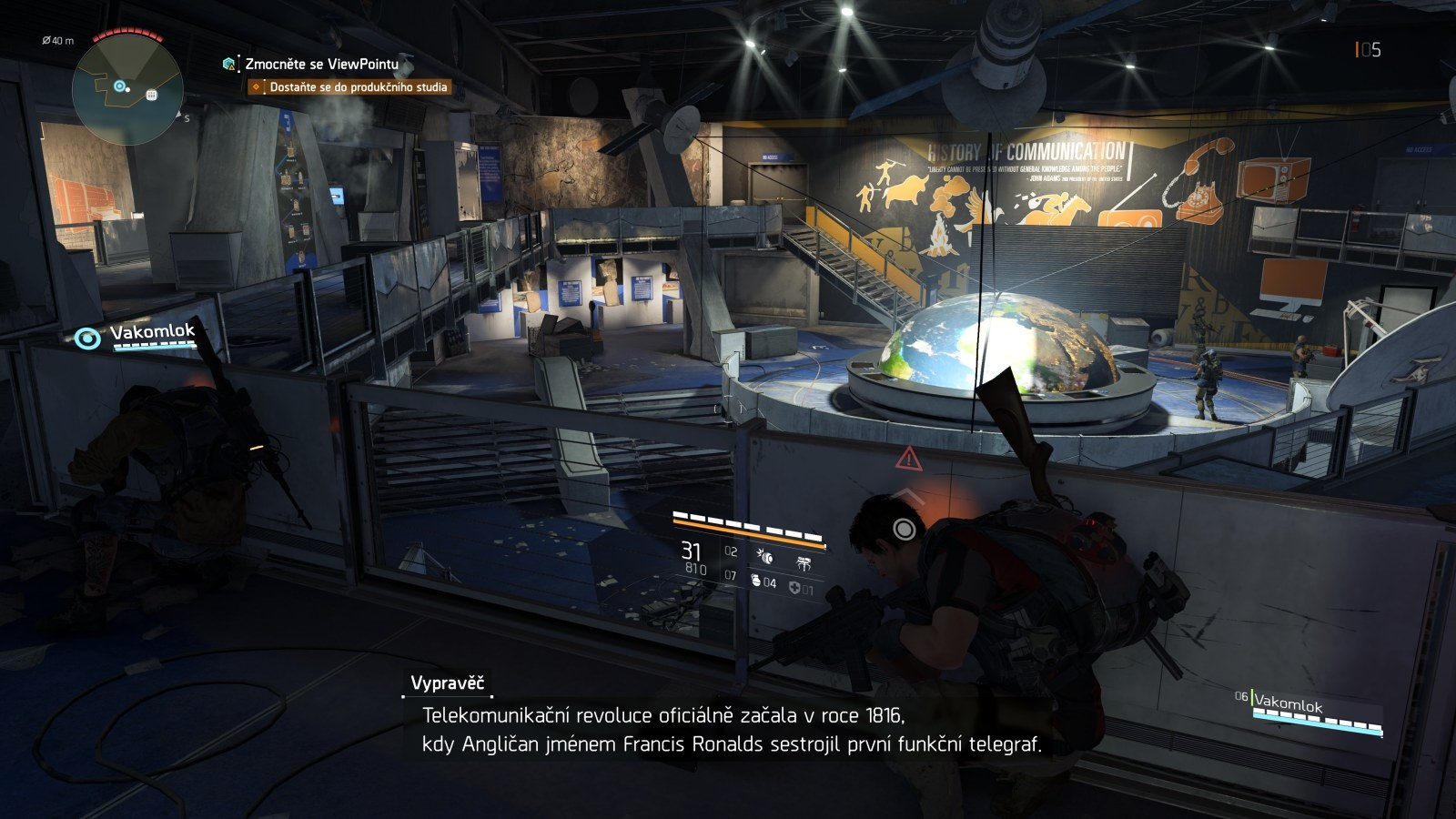 Tom Clancy´s The Division 2; gameplay: interiér