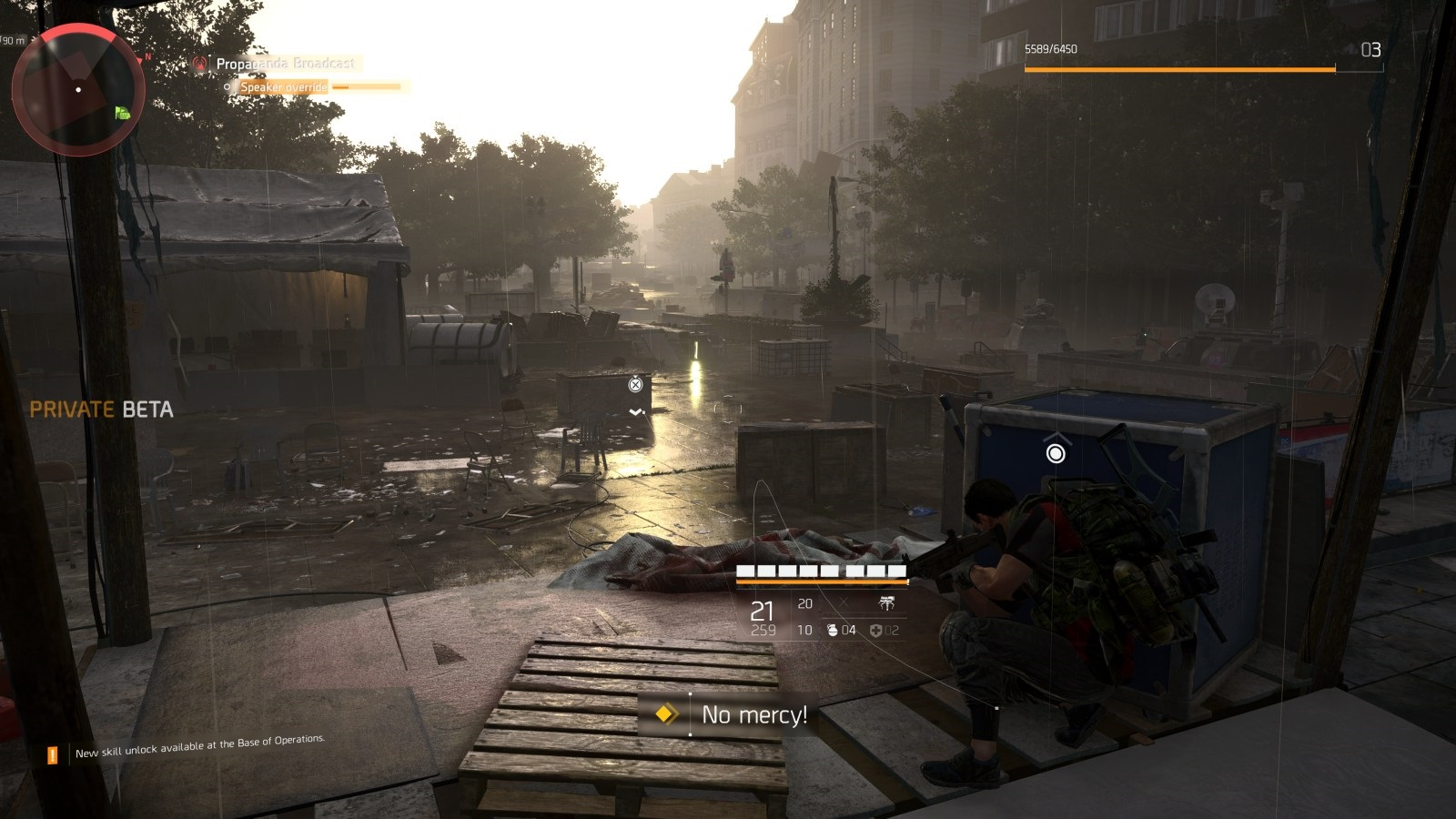 Tom Clancy's The Division 2; gameplay: krytí