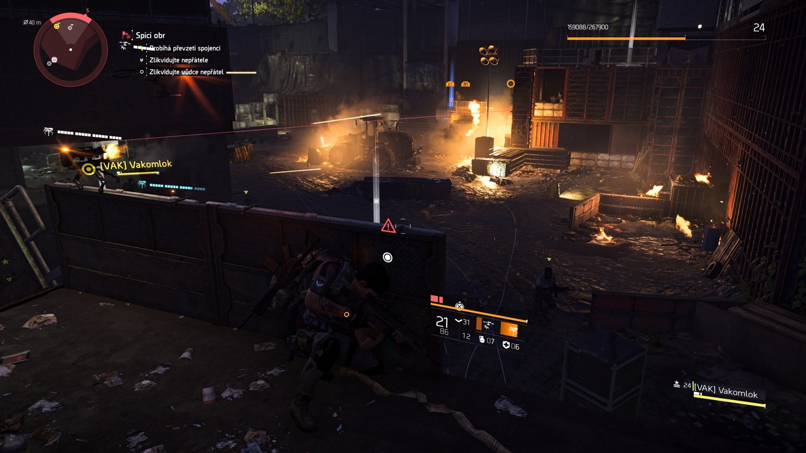 Tom Clancy´s The Division 2; gameplay: oheň