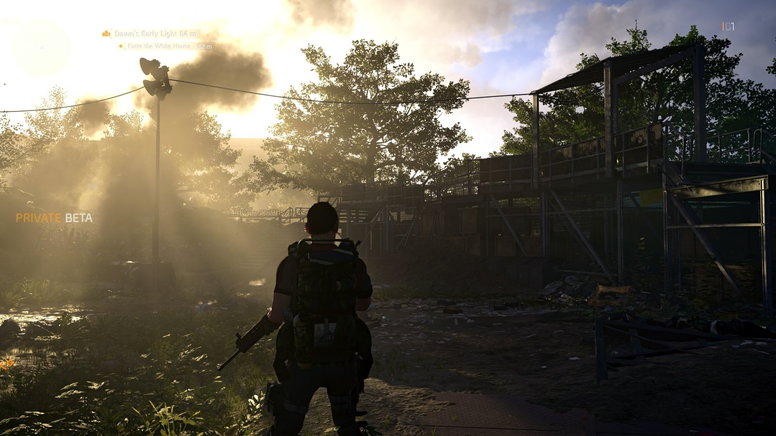 Tom Clancy's The Division 2; gameplay: slunce