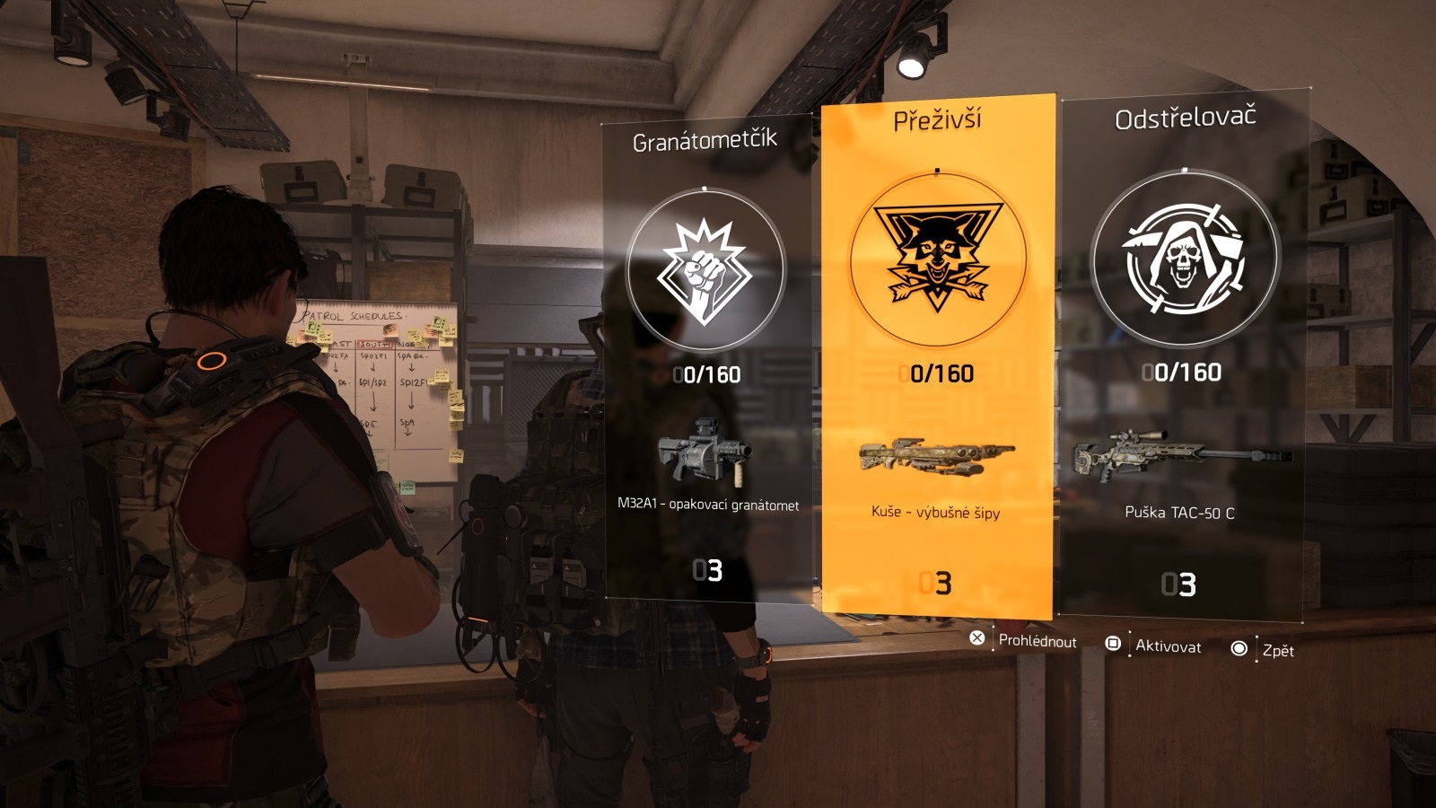Tom Clancy´s The Division 2; gameplay: specializace