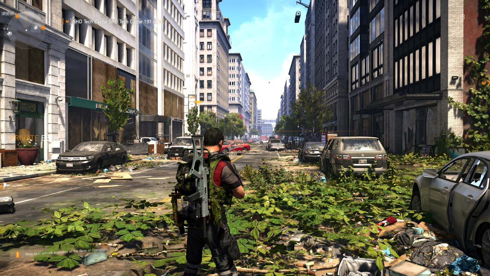 Tom Clancy's The Division 2; gameplay: tráva