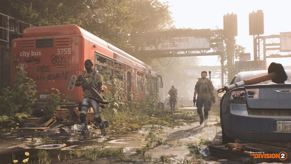 Tom Clancy's The Division 2; screenshot: vlak