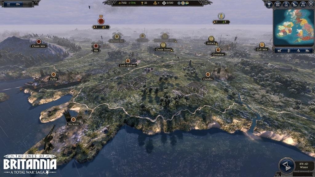 Nejočekávanější hry květen 2018; Total War Saga: Thrones of Britannia, gameplay, global map