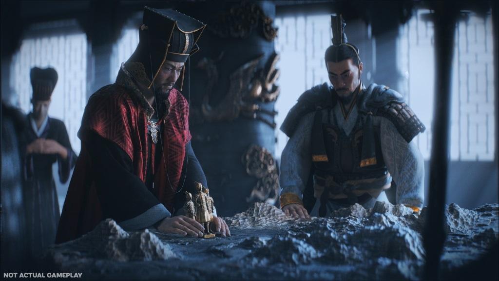 Total War: Three Kingdoms; Wallpaper: bitevní plán, vojevůdce