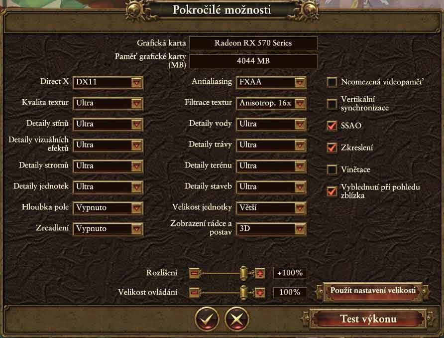 Total War> Warhammer nastavení 2