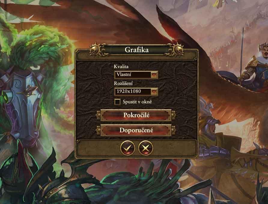 Total War> Warhammer nastavení testu 1