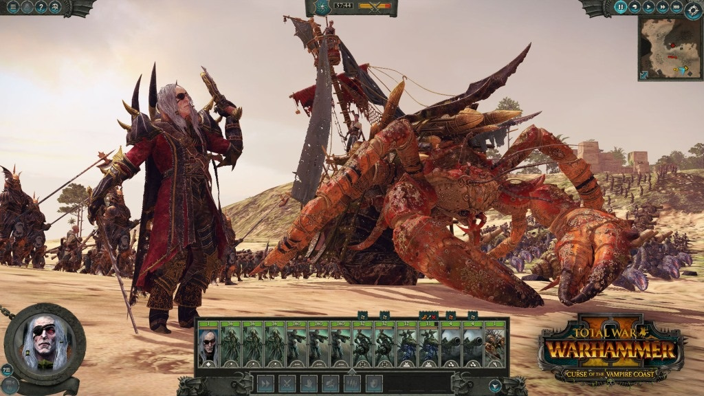 Total War: Warhammer II – Curse of the Vampire Coast; screenshot: armáda
