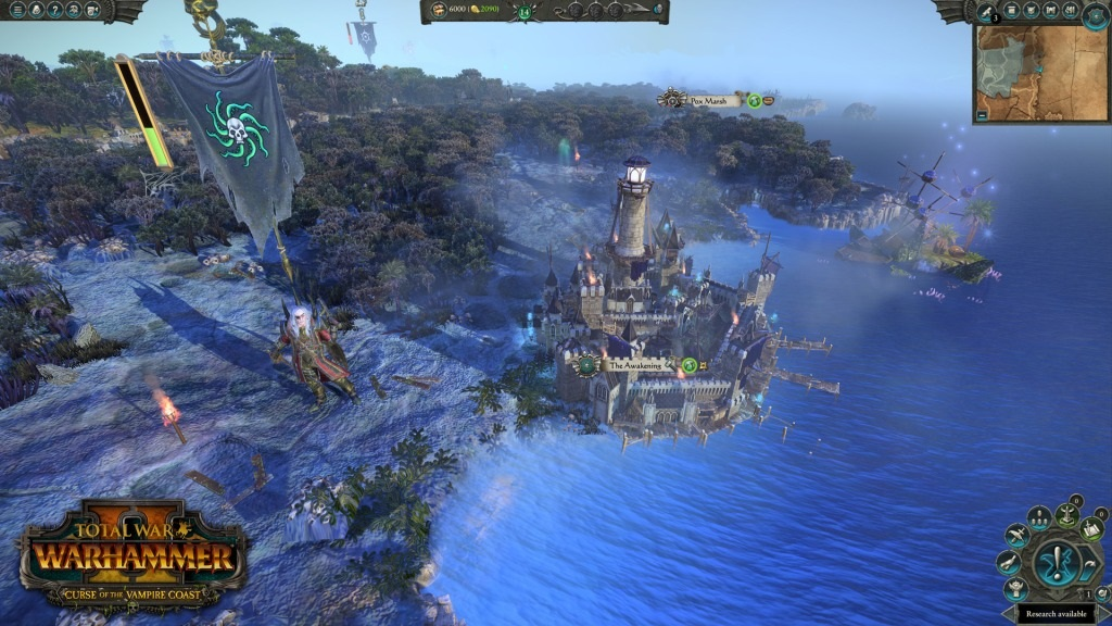 Total War: Warhammer II – Curse of the Vampire Coast; screenshot: pevnost