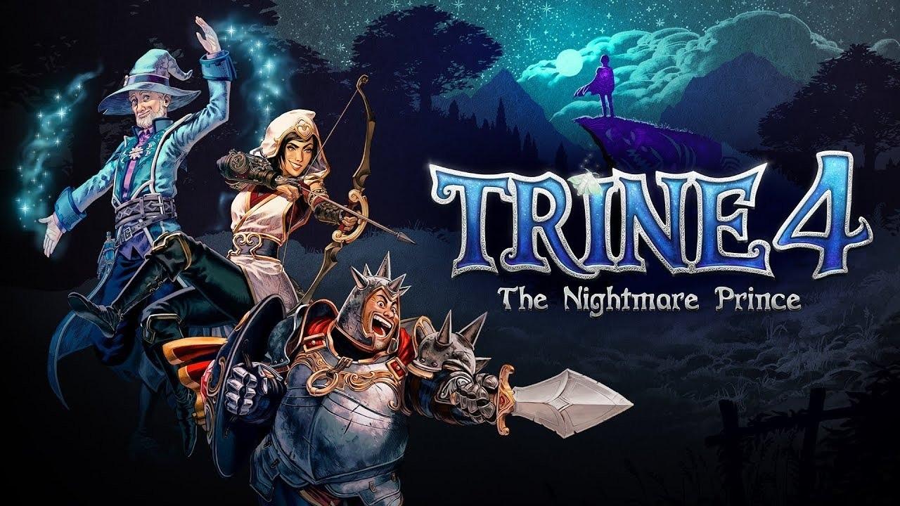 Trine 4: The Nightmare Prince; wallpaper: cover, logo