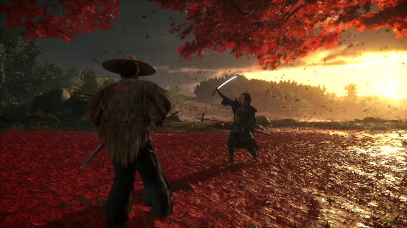Nejočekávanější hry v roce 2019; Ghost of Tsushima, screenshot: listí