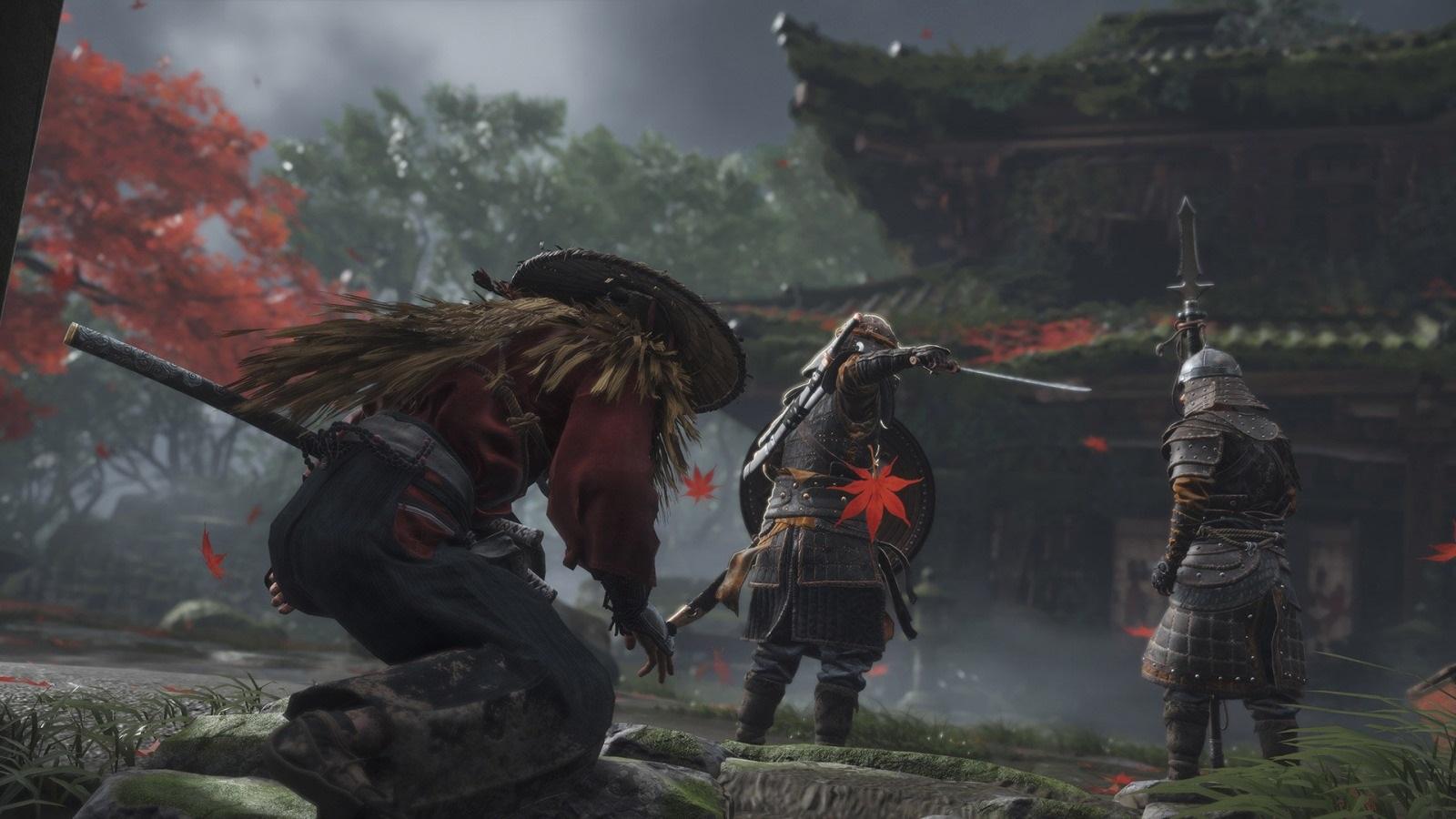 Nejočekávanější hry v roce 2019; Ghost of Tsushima, screenshot: plížení
