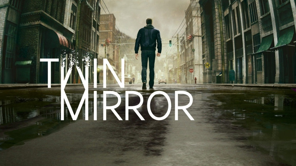 Twin Mirror; wallpaper: logo