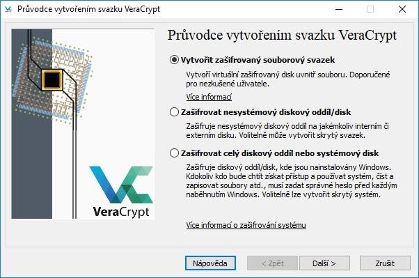 VeraCrypt průvodce.