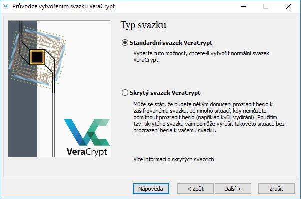 VeraCrypt výběr svazku.