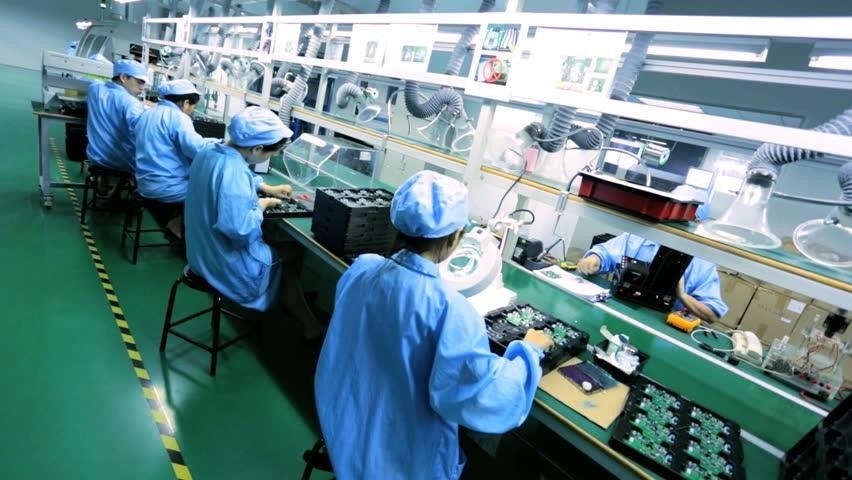Výroba notebooku - Čína