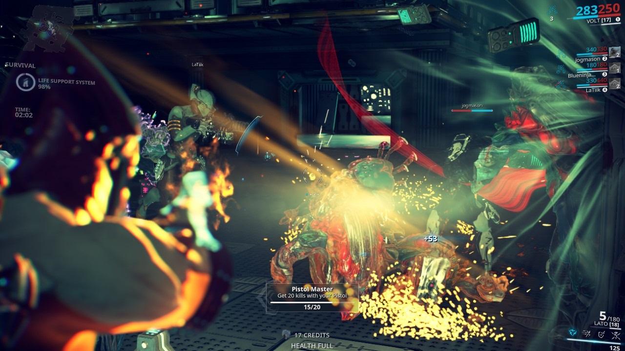 Warframe; gameplay: akce