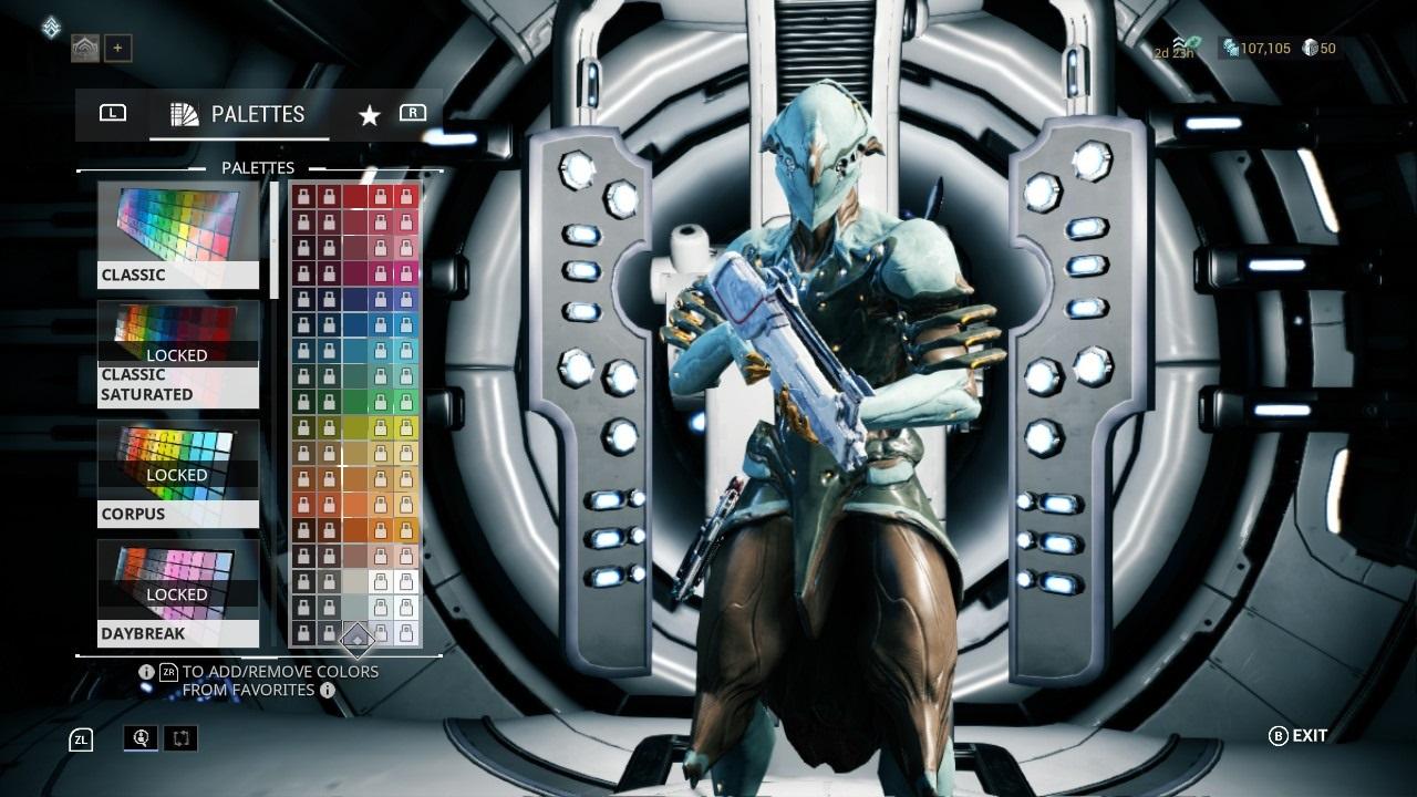 Warframe; gameplay: customizace