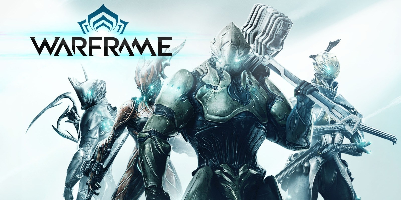 Warframe; screenshot: logo, cover