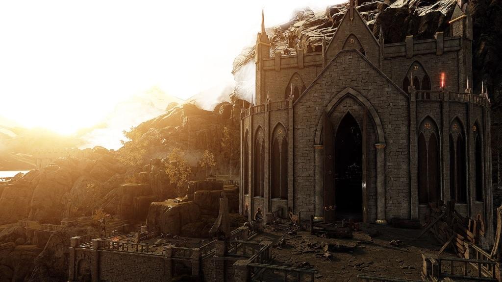 Nejlepší hry; Warhammer: Vermintide 2; Wallpaper: hory, hrad