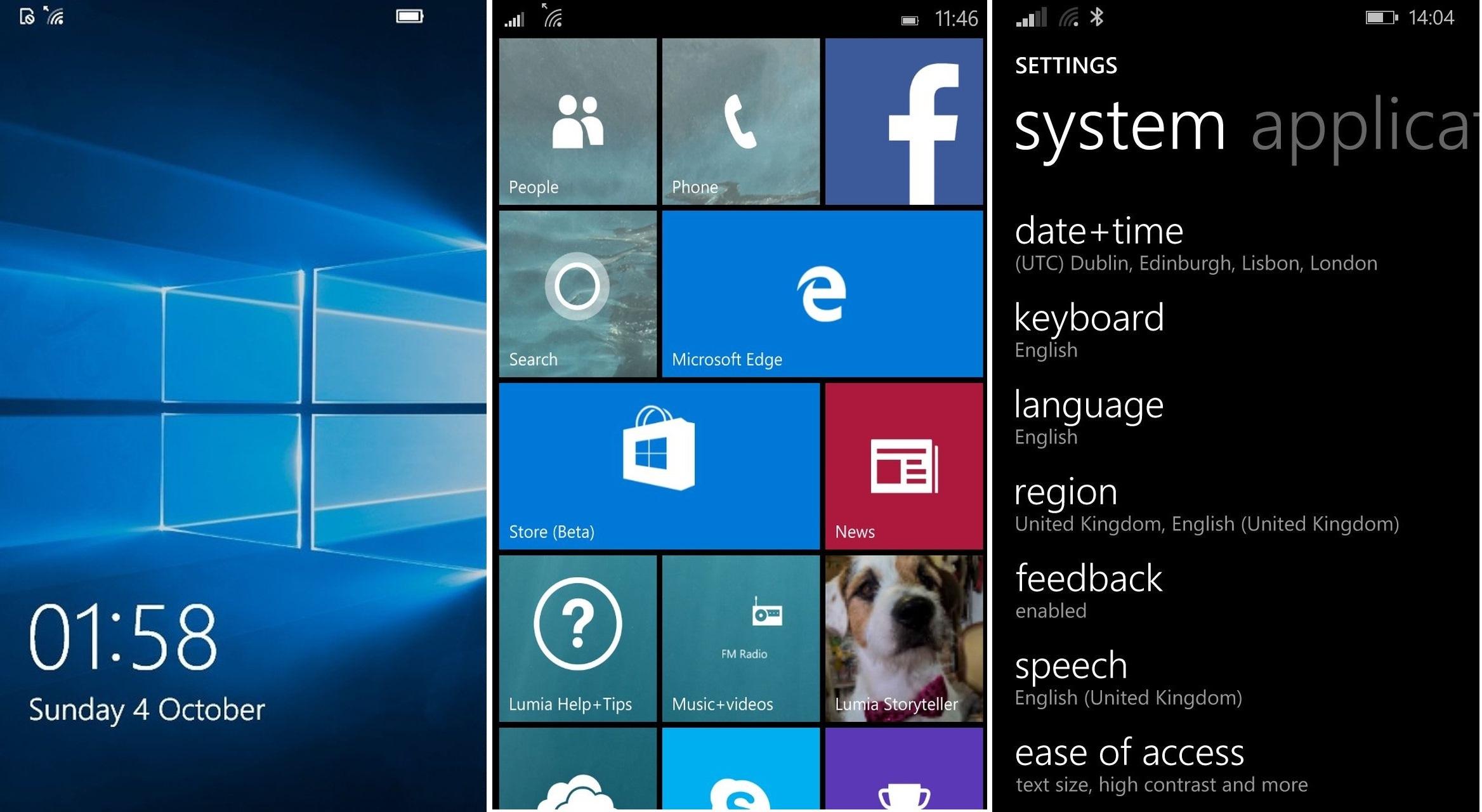 Grafické rozhraní Windows Phone