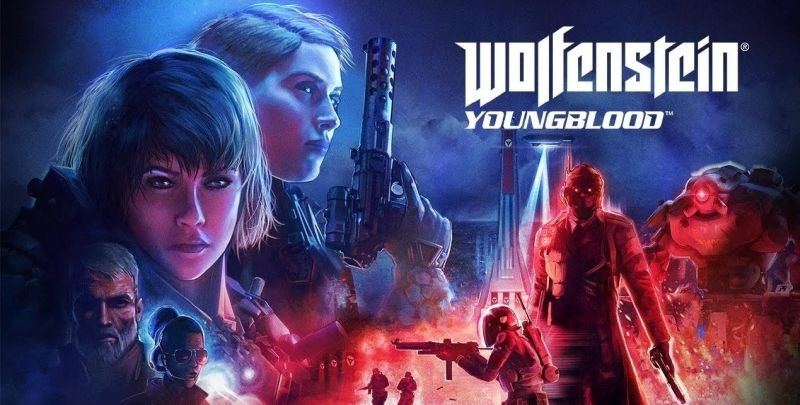 Wolfenstein: Youngblood; screenshot: cover, logo