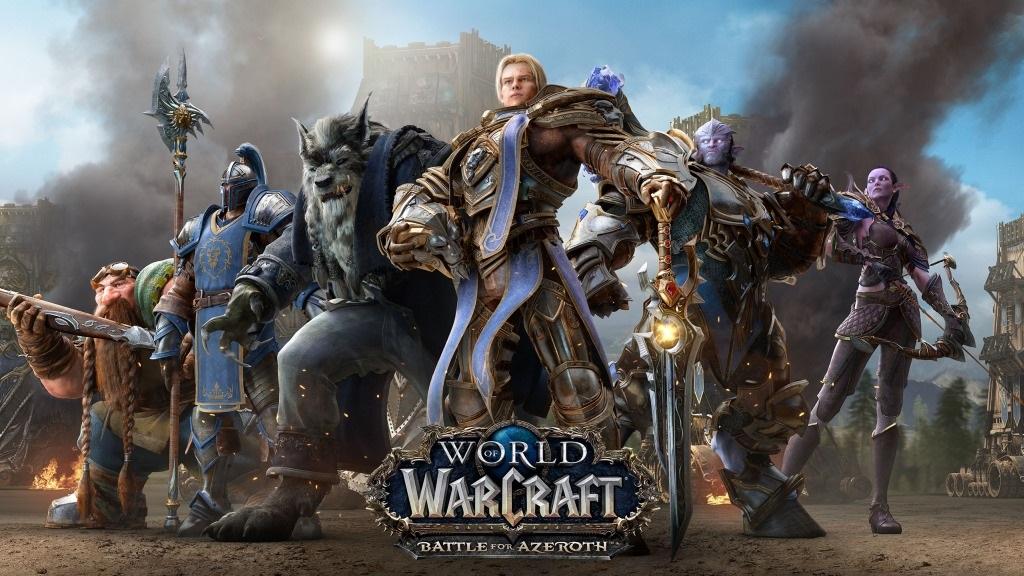 Nejočekávanější hry v červenci a srpnu 2018; World of Warcraft: Battle for Azeroth, wallpaper: Aliance
