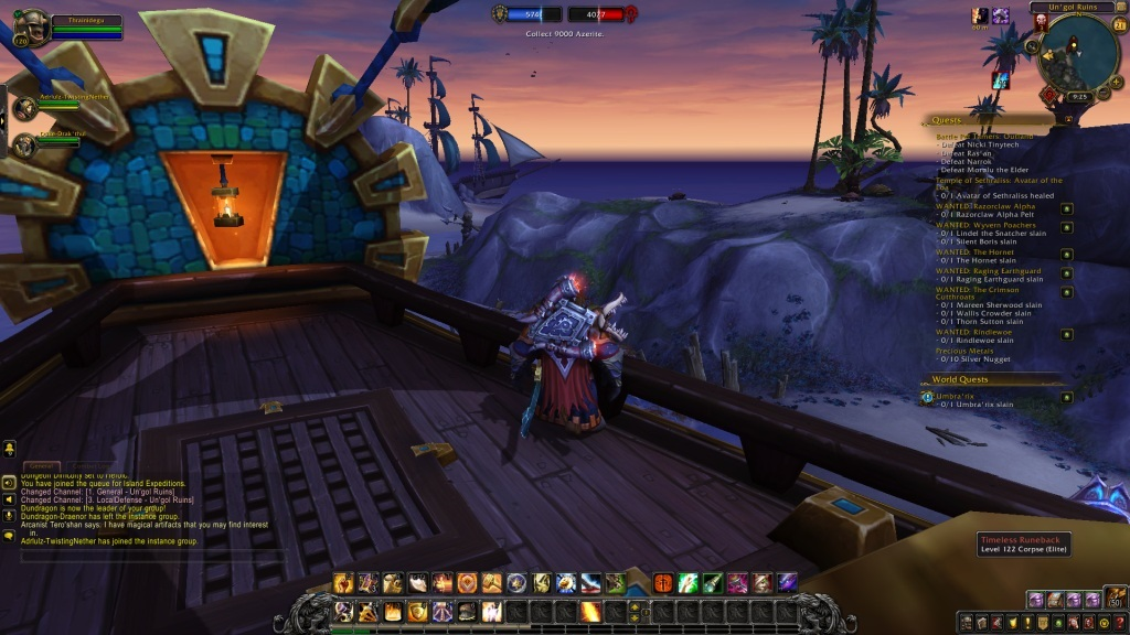 World of Warcraft: Battle for Azeroth; gameplay: expedice
