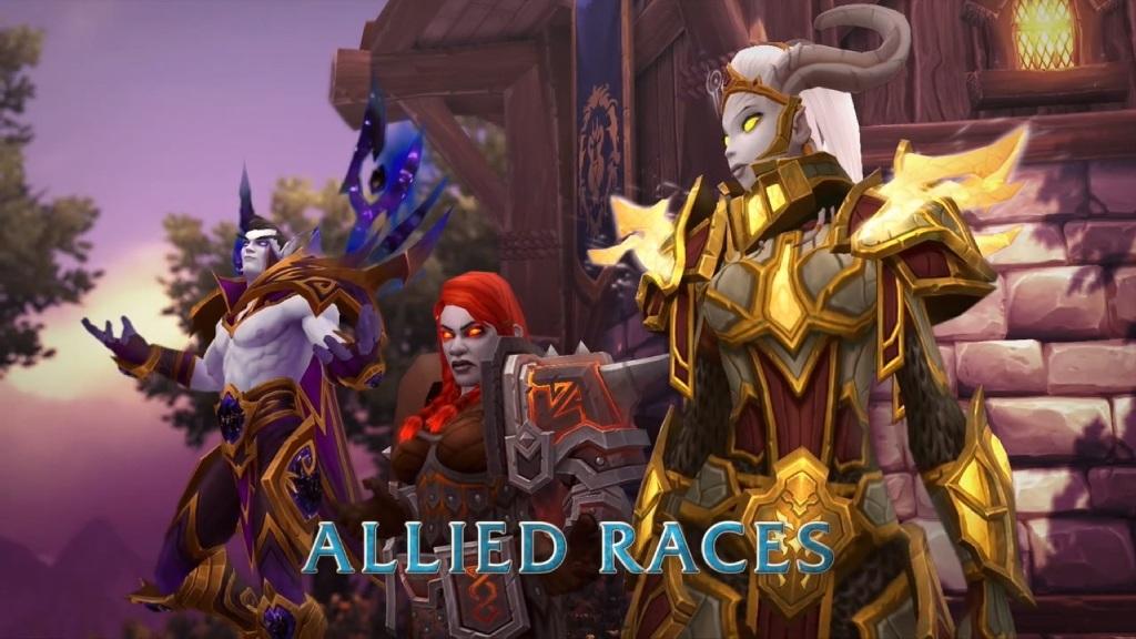 World of Warcraft: Battle for Azeroth; Wallpaper: nové rasy - Alliance
