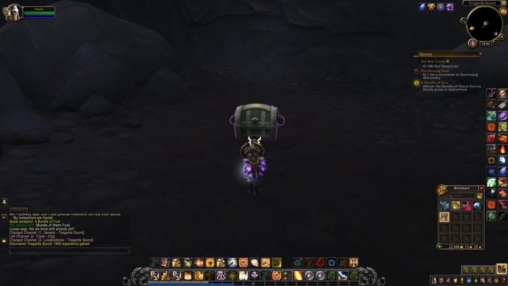 World of Warcraft: Battle for Azeroth; gameplay: truhla