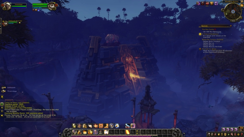 World of Warcraft: Battle for Azeroth; gameplay: ziggurat