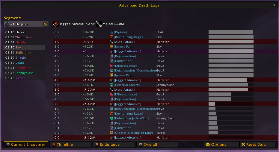 World of Warcraft Classic; addon: details! damage meter