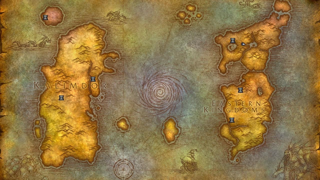 World of Warcraft Classic Tipy; gameplay: mapa