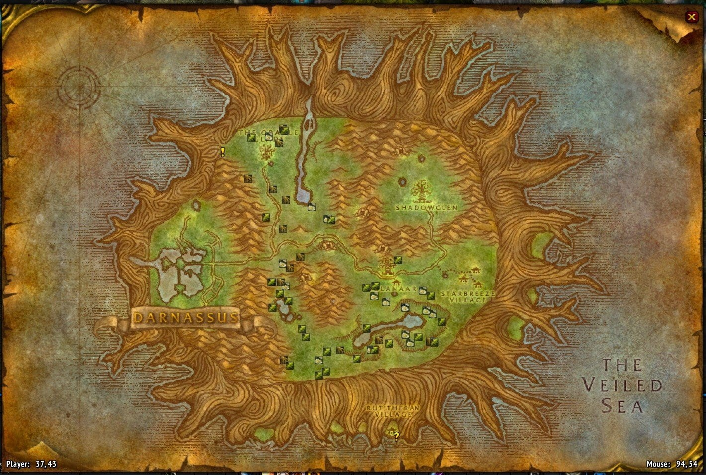 World of Warcraft Classic; addon: track resources